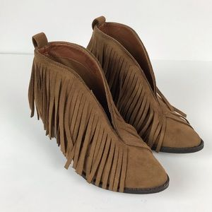 Coconuts by Matisse Lombard brown fringe bootie